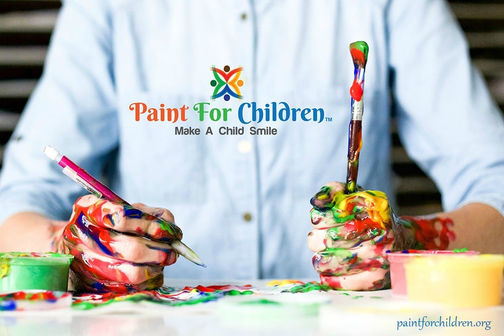 painted-hands-with-paintforchildren-logo
