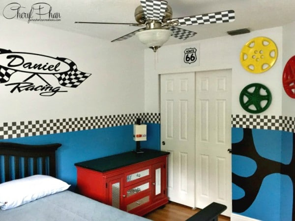 Race Car Boys Room Cheryl Phan